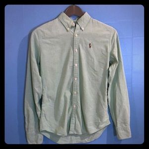 Comfy Light Green Ralph Lauren Collared Shirt!